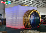 3.5*2.8*2.5m LED Light Portable Inflatable Photo Booth White And Golden Color