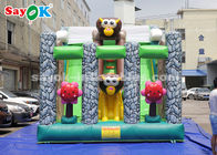 China 6*4m Animal Theme Party Inflatable Bouncer Slide For Advertising factory