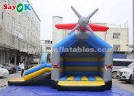 China 0.4mm PVC Tarpaulin Inflatable Jump And Slide Bouncer With Airplane For Kids factory
