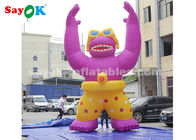 China Wear - Resisting Inflatable Cartoon Characters For Super Mall / 6m High Blow Up Orangutan Model factory