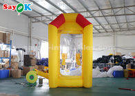 China Durable Custom Inflatable Products , Yellow Inflatable Cash Booth Money Grab Machine factory