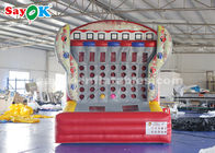 China 0.4mm PVC Tarpaulin Inflatable Sports Games Connect Four 4 In A Row Basketball Game factory
