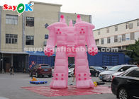 China Pink 5m Inflatable Robot Cartoon Characters For Rental Business factory