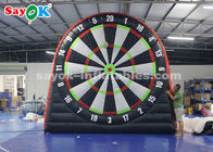 China 4m Outdoor Inflatable Soccer Darts Board With 6pcs Balls For Sports Game factory