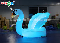 China Blue Inflatable Swan Model With Shoulder Strap To Carry For Stage Procession factory