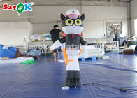 China 1.5 Meter Black Cat Sheriff Model Inflatable Cartoon Characters factory