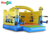 China Little Yellow Bouncy Castle Man PVC Tarpaulin For Outdoor Amusement factory