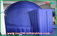 China Dark Blue 5m Inflatable Dome Tent , Oxford Projection Cloth Inflatable Projection Dome factory