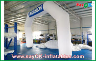 China Italy Blue / White Inflatable Arch 6mL x 4mH With Oxford Cloth And PVC Coating company