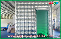 China Led Lights Photo Booth Tent Sliver Inflatable Oxford Cloth / PVC factory