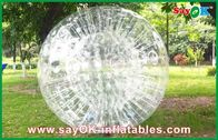 China Transparent Inflatable Sports Games , Funny 0.8mm PVC Body Zorbing Ball factory