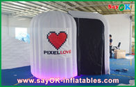 China White Rounded Inflatable Photobooth 210D Oxford Cloth And LED Light company
