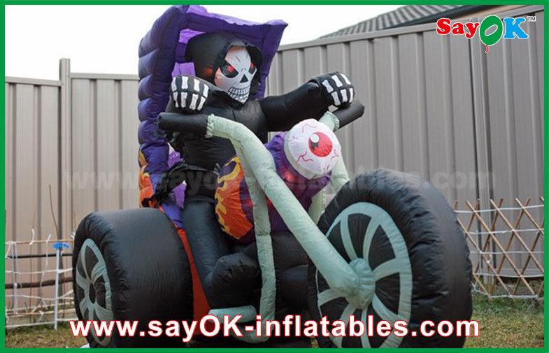 Black Oxford Cloth Halloween Yard Inflatable Decorations Motorcycle  Inflatable Shape - Black Oxford Cloth Halloween Yard Inflatable Decorations