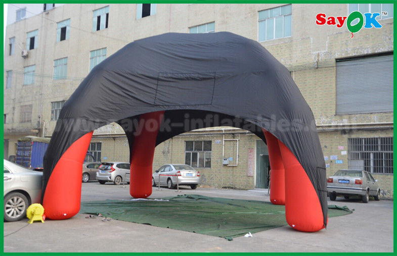 Red / Black Spider Inflatable Dome Tent 4 Legs With Oxford Cloth Fire Retardant & Red / Black Spider Inflatable Dome Tent 4 Legs With Oxford Cloth ...