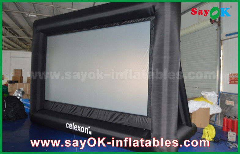 PVC Custom White / Black Inflatable Projection Screen WIth Frame SGS ...