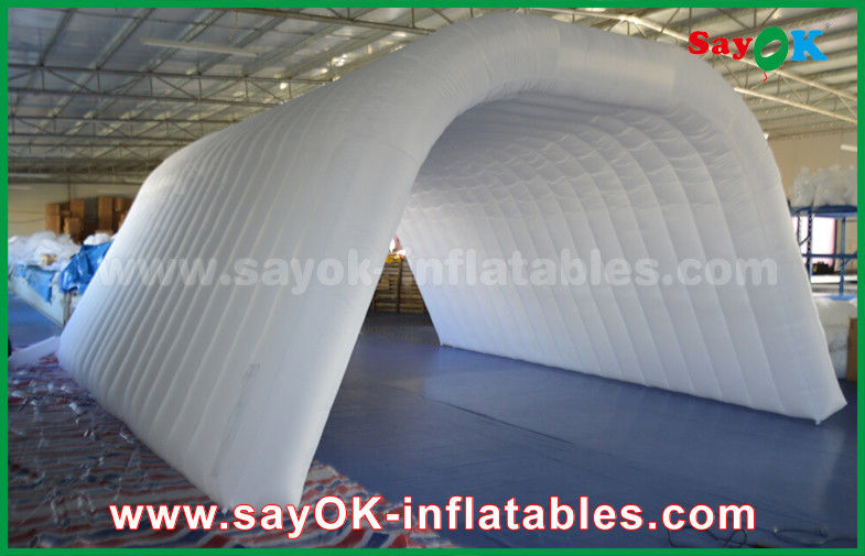 & Custom Made Adult White Inflatable Tunnel Tent For Event / Trade Show