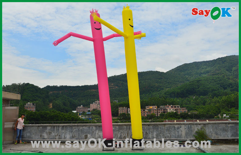 Holiday Decorations Red Yellow Inflatable Tube Man