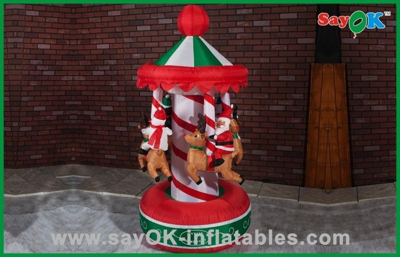 Funny Christmas Carousel Inflatable Holiday Decorations Air Blown ...