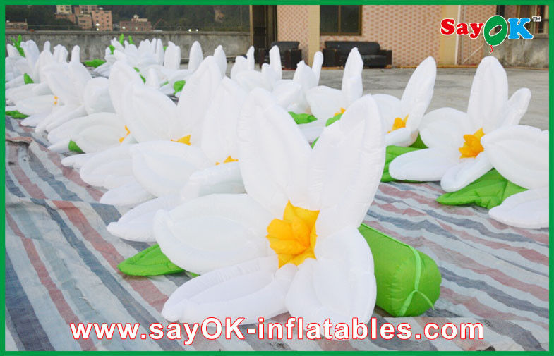 White flower chain inflatable lighting decoration oxford cloth for white flower chain inflatable lighting decoration oxford cloth for wedding decoration junglespirit Images