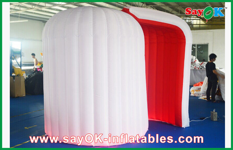 Durable White Inflatable Photobooth  Lighting Blow-up Photo Booth Tent & Durable White Inflatable Photobooth  Lighting Blow-up Photo Booth ...