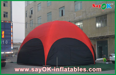 3 M Red Hexagon Large Outdoor Inflatable Tent PVC For Vocation