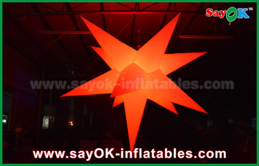 China Party Bar Outdoor Inflatable Decorations Led Lighting Star With 16 Different Color factory