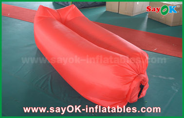 Inflatable Beach Sleeping Air Bag Camping Lying Bag Easy Opening Nylon Material