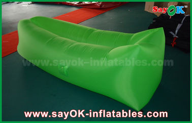 OEM Inflatable Lazy Pop Up Sofa Sleeping Bags For Girls Blue / Red / Purple / Pink