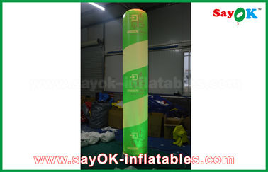 China Custom Led Light Inflatable Pillar , Outdoor Inflatable Decorations With 600D Pvc / Nylon factory
