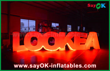 China Giant Inflatable Led Letter Lookea Lighting Outdoor Inflatable Decorations For Party factory