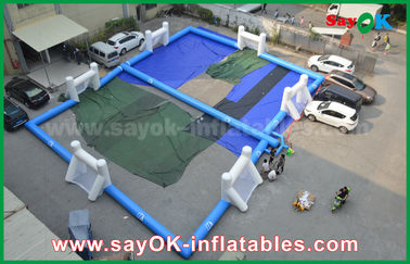 Durable Tarpaulin Inflatable football playground , Portable Inflatable Soccer Field