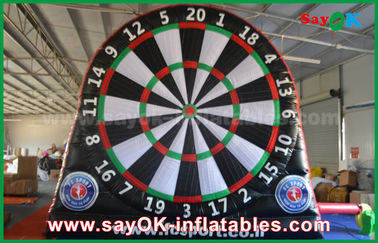 PVC Outdoor Footdarts Inflatable Sports Games / Inflatable Dart Board