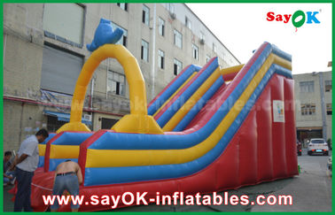 Customized 0.55 PVC Tarpaulin Inflatable Bouncer Slide For Water Fun / Water Park