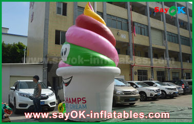 Giant Customized Inflatable Products , Inflatable Ice Cream for Advertising / Promotion / Party