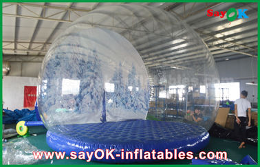 3m Dia Inflatable Holiday Decorations / Transparent Inflatable Chrismas Snow Globe for Advertising