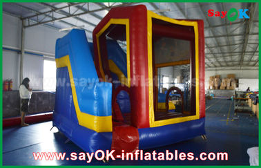 PVC Outdoor Miniones Inflatable Bouncer Slide / Kids Bounce Jumping House