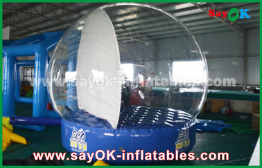 3m / 4M / 5m DIA Inflatable Snow Ball With 0.6mm PVC For Christmas