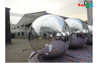 China Lightweight Silver Dia 2m Inflatable Balloon For Advertising Easy To Carry factory
