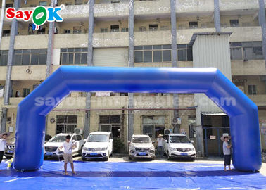 Blue PVC 9.14 X 3.65 Meter Inflatable Arch For Event Advertising Easy To Clean