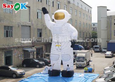 Oxford Cloth 10m Inflatable Astronaut Cartoon Characters With Air Blower