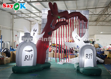 China Durable 5*4m Inflatable Holiday Decorations Halloween Entrance Archway With LED Lights factory