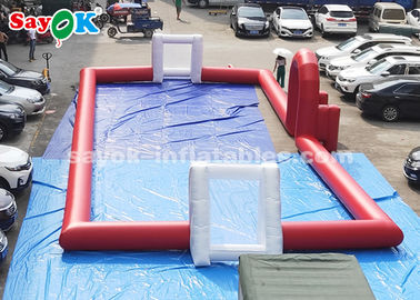 20*8m Red PVC Tarpaulin Inflatable Sports Games Outdoor Football Field