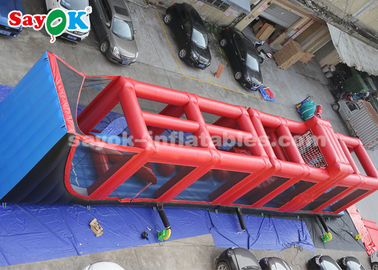 Red 25*3*4m Inflatable Obstacle Game Playing Tournament For Rental