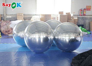 China Sliver Giant Inflatable Balloon Mirror Ball Commercial Decoration factory
