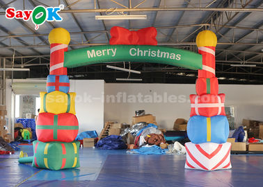 China 5*4m Inflatable Christmas Arch With Gift Box For Garde / Street factory