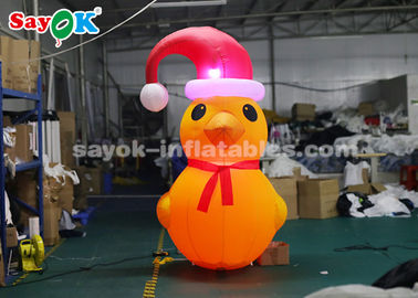 China Yellow 2m Inflatable Duck Model With Air Blower For Yard Christmas Decorations factory