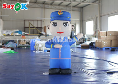 China 1.5m Height Inflatable Cartoon Characters Police Model For Advertiement factory