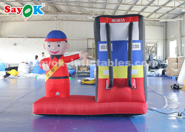 2m Inflatable Gas Station Cartoon Characters for Advertising Commercial Use
