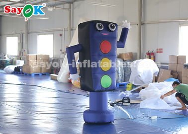 China Promotion Inflatable Cartoon Characters 2m Traffic Light Model CE factory