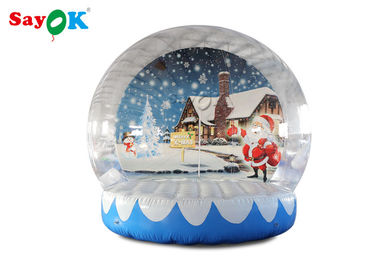 China PVC Giant 3m Inflatable Christmas Snow Globe With Background Printing factory